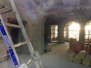 Renovation sous les arches de l'Hôtel Dieu de Lyon